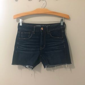 American Eagle Outfitters high rise shortie shorts
